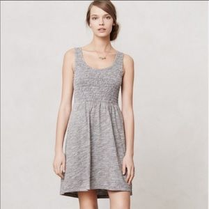 Anthropologie Lilka Smocked Fit and Flare Dress M